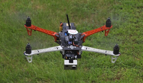 Quadcopter flying
